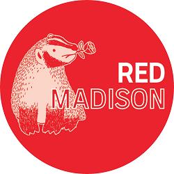 Red Madison logo (DSA-Madison publication)